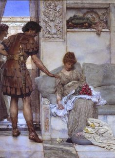 A Silent Greeting - Lawrence Alma-Tadema (1889)