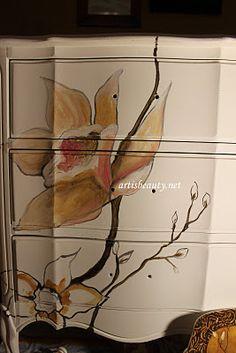 blossom-inspired desk