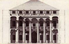Andrea Palladio: the palace designed for Iseppo Da Porto, Vicenza, Italy, 1552; transversal section by Bertotti Scamozzi, 1776