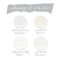 Who knew that there could be so many different shades of white?! Fear not! We have selected our top four favorite Benjamin Moore white paints. 1. Benjamin Moore