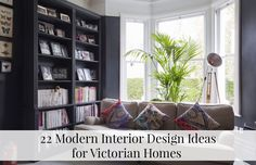 dark living room for modern house interior designs ideas - SHW Home Decor Victorian Home Decor, Modern Victorian, Victorian Homes, Edwardian House, Victorian London, Neon Licht, Mad About The House, Modern Home Interior Design, London House