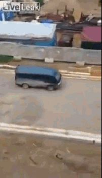 """This bus that's making a quick pit stop: 
