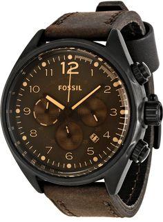 Fossil Mens CH2782 Flight Brown Dial Watch , Fossil Watch Men