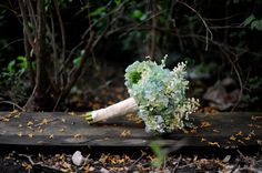 Hydrangea and Lily of the Valley bouquet.  Photo by Erica Rose Photography.