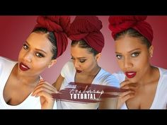 How To Headwrap - I DONT HAVE A SCARF LET ME HEADWRAP WITH LEGGINGS TUTORIAL // Samantha Pollack - YouTube