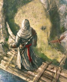 Assassin's Creed: Altaïr Ibn-La'Ahad's leap of faith. Assassins Creed Ii, Skyrim, Assasins Cred, Geeks, Assassin's Creed Wallpaper, Assassins Creed Wallpaper Iphone, La Grande Motte, Connor Kenway, All Assassin's Creed