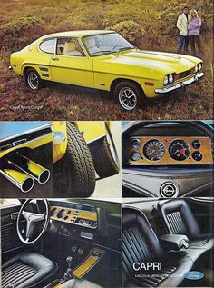 Ford Cortina Mk3 Retro A3 Poster Print From Classic 70 S
