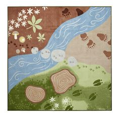 Woodland rug from Ikea. Might need to go on a field trip there!