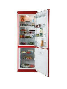 Swan SR9052R 60cm Fridge Freezer - Red (Next Day Delivery) | very.co.uk