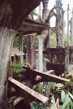 """Las Pozas - """"Referred to as the """"Surrealist Xanadu"""", this gorgeous work of architecture isn't ancient at all, but dates back to the late 1940′s, when eccentric Englishman Edward James was living in a state of semi-exile in the Mexican rainforest. To pass the time, he began building a series of """"garden sculptures"""" inspired by surrealist art."""""""