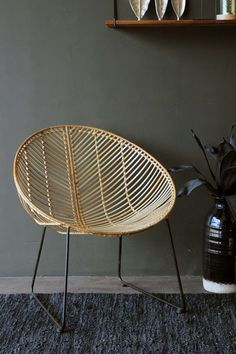 I really love the Eryn Natural Rattan Chair Wicker is in demand and the beautiful natural looks of the chair creates a authentic outdoor look - #RattanChair