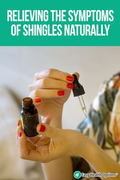 <p>Shingles can strike anyone who's had chickenpox, although older adults tend to be more susceptible. This painful, burning, itching rash takes time to heal. But you can relieve its symptoms through a number of natural means while waiting for it to disappear…</p> Treating Shingles, Natural Health Tips, Natural Healing, Postherpetic Neuralgia, Health Options, Chamomile Oil, Natural Remedies, Pixie