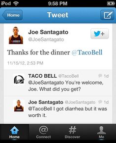 """There's a reason we call it """"Taco Fart""""..."""