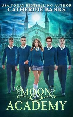 Moon Academy by Catherine Banks - one of 22 reverse harem novels filled with magic, danger, mystery, adventure, and romance in the Realms and Rebels collection. Book Club Books, Book Series, New Books, Good Books, Fantasy Books To Read, Paranormal Romance Books, Bon Film, Teen Movies, Good Movies To Watch