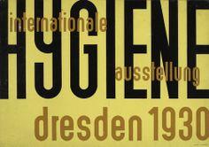 Erich Mrozek (German, 1910-1993). Design for a poster for Internationale Hygiene Austellung (International Hygiene Exhibition), Dresden, 1930. Gouache on paper. 16 1/2 x 23 3/8 in. (41.9 x 59.4 cm).