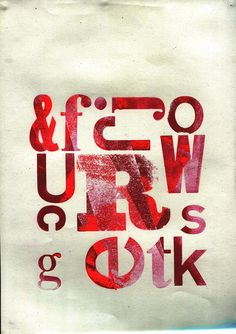 Project: Research Project looking at traditional letter press and typography.  A4 Letter Press Poster