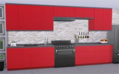 """Future Kitchen I converted another kitchen, this time from TS3 Into the Future. I did a bunch of missing meshes and recolors. You have to disable """"The Automatic Counter Placement"""" to use all parts of..."""