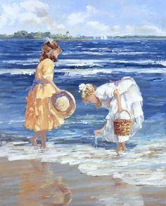 Beach Paintings by Sally Swatland