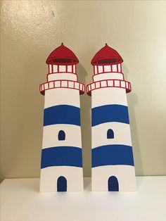 Lighthouses nautical Sailor Party, Nursery Wall Stickers, Nautical Theme, Baby Boy Shower, Diy For Kids, Painted Rocks, Party Themes, New Baby Products, Diy And Crafts