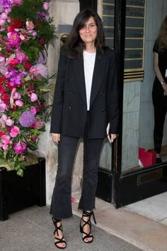 Emmanuelle Alt attends the Schiaparelli Haute Couture Fall/Winter 20172018 show as part of Paris Fashion Week on July 3 2017 in Paris France