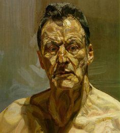 Lucien Freud self-portrait - by Lucian Freud – Germany/UK Lucian Freud Portraits, Lucian Freud Paintings, Serpieri, Oil Painting Lessons, Painting Classes, Oil Canvas, Alberto Giacometti, Andrew Wyeth, Sigmund Freud
