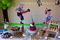 Cute Pinocchio party