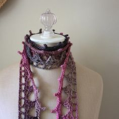Don't knit, but you crochet like mad?  Here's a modern twist on a lace scarf that is both super fun and super quick to crochet - perfect for last minute christmas gifts!  designed by me (phydeaux designs)  :)  happy holidays!