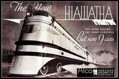 Art Print Hiawatha Train Travel Poster - 8 x 10 Print
