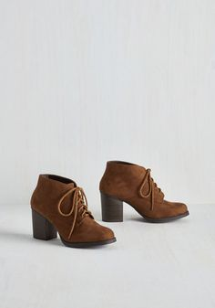 Take a Prance on Me Bootie in Chestnut | Mod Retro Vintage Boots | ModCloth.com