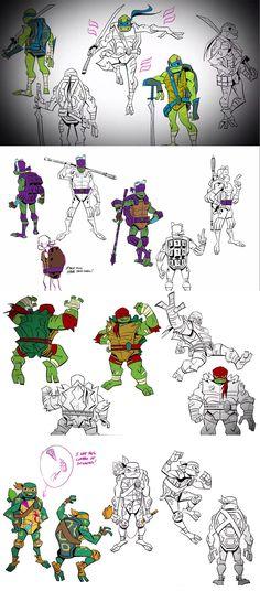 Tmnt Turtles, Teenage Mutant Ninja Turtles, Brotherly Love, Fan Art, Drawings, Random Stuff, Cartoons, Bat Family, Ninja Turtles