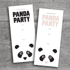 Printable Panda Party Invitations!!! Available at Flutter Flutter Studio, by Rosa Pearson Design.