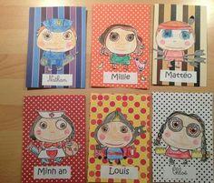 Étiquette porte manteaux réalisées par les enfants Ecole Art, Art Plastique, Elementary Art, First Grade, Deco, Preschool Crafts, Art Education, Art For Kids, Art Projects