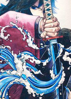 Kimetsu no Yaiba {Demon Slayer} - Giyu Tomioka Otaku Anime, Manga Anime, Anime Demon, Anime Boys, Manga Art, Demon Slayer, Slayer Anime, Manga Japan, Character Art