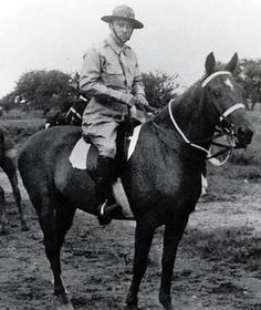 Edwin Ramsey, 26th Cavalry Regiment turned Philippine Resistance fighter, WWII.  Led the last mounted cavalry charge in the history of the United States Cavalry.