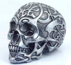 Silver Tribal Skull by Design Clinic