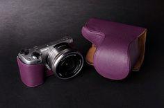 Genuine Real Leather Full Camera Case Camera Bag for Sony NEX 5R NEX5R 10 Colors | eBay $64