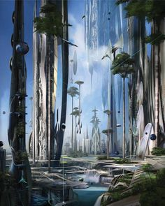 "Modern life looks a lot like the dreams of the past. So we asked today's best sci-fi minds what they dream about. From artist Stephan Martiniere: ""I imagine our future in a holistic way, where urbanism could be a harmony between technology and nature. Buildings might be living organisms, grown and shaped to fulfill a multitude of purposes. Future architecture would result from a deep understanding of the surrounding ecosystem."""