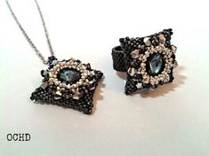 """Pendant and ring """"Blue Night"""""""