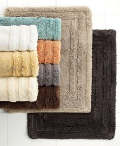 Hotel Collection Luxe Bath Rug Collection YES dream bath rug. Get 2 in smallest size Rugs And Mats, Spa Like Bathroom, Dream Bath, Best Bath, Color Balance, Bath Rugs, Towel, House Design, Make It Yourself