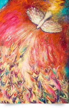 Holy Spirit Dove Prophetic Art. Worship and praise in amazing colors.