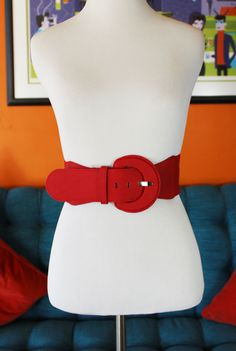 Luscious Red Wide Belt
