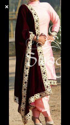 Boutique suit,baby pink silk suit with velvet dupatta, whatsapp Punjabi Fashion, Ethnic Fashion, Bollywood Fashion, Indian Fashion, Bollywood Suits, Indian Attire, Indian Wear, Pakistani Dresses, Indian Dresses