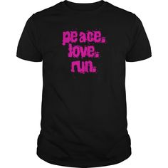 White peace love run Womens TShirts #