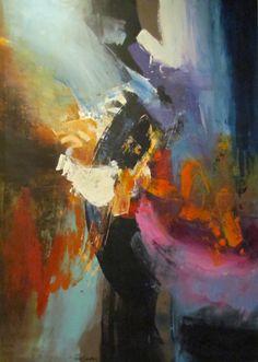"""""""Breakwinds,"""" Acrylic on Canvas, 68 x 48 in."""