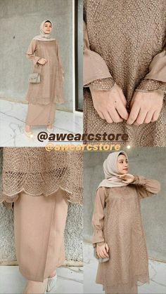 Modern Hijab Fashion, Street Hijab Fashion, Abaya Fashion, Muslim Fashion, Fashion Outfits, Dress Brukat, Hijab Dress Party, Hijab Wedding Dresses, Hijab Bride