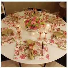 W/ this table, would use a tablecloth underneath to hide the table legs...love the place mats!