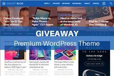 "Giveaway! Win ""Gadget Blog"" Premium WordPress Magazine Theme"