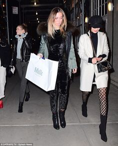 Get ripped in a distressed hoodie like Gigi. Click 'Visit' to buy now. #DailyMail