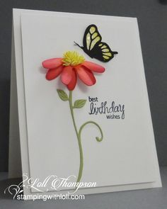 Butterfly and Bloom by Loll Thompson - Cards and Paper Crafts at Splitcoaststampers