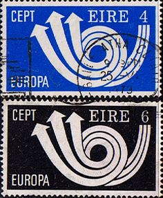 Decimal Postage Stamps of Eire Ireland 1973 Europa Set  Fine Used SG 327/8 Scott 329/30 Other Irish Stamps HERE Take a look